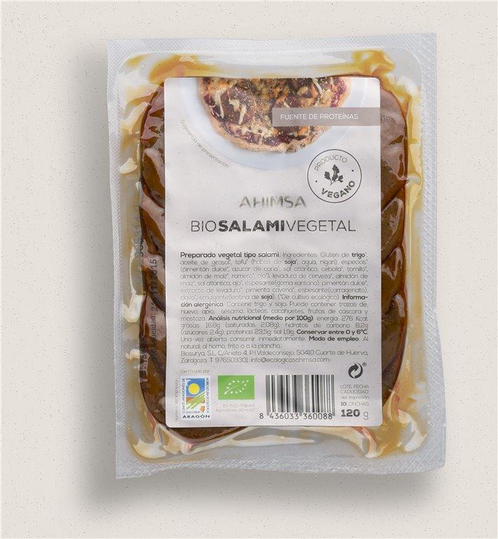 Salami Vegetal Bio Ahimsa, 120 gr