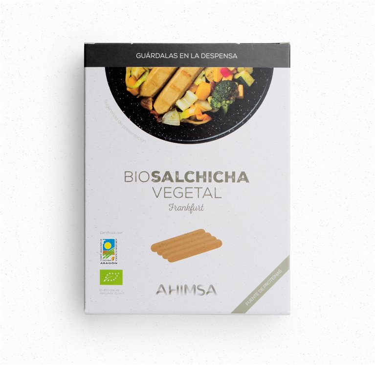 Salchicha Vegetal Frankfurt Bio Ahimsa, 230 gr