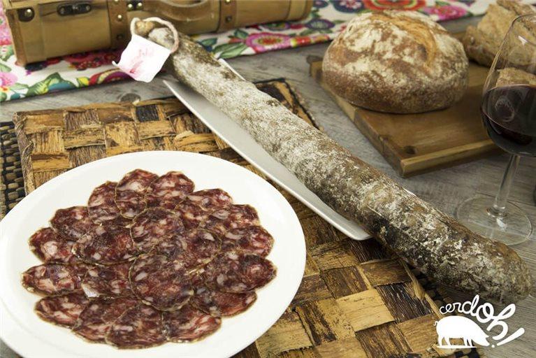 Salchichón Ibérico de bellota. 1,1 a 1,3 kg.