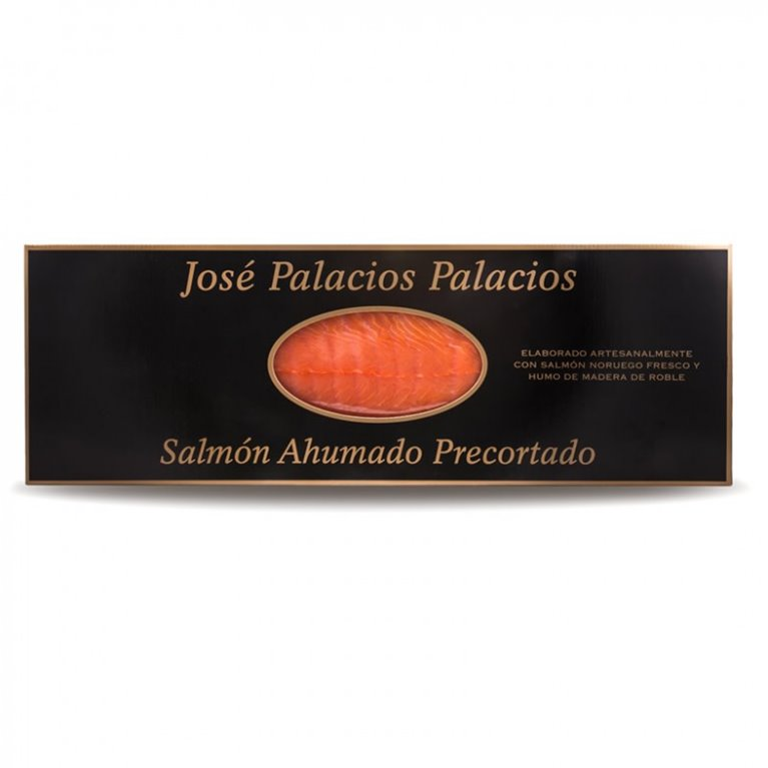 Pre-cut smoked salmon