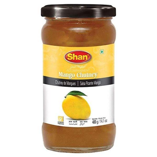 "Salsa ""Chutney"" de mango dulce | Sweet mango chutney Shan 400g"