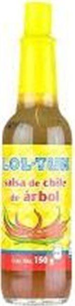 Salsa de Chile Árbol Lol Tun 150ml