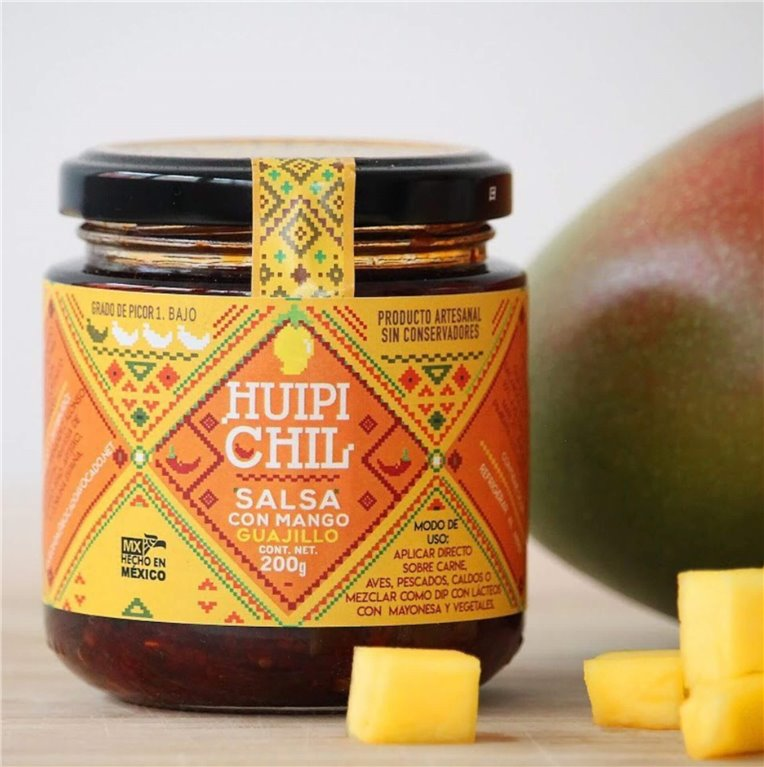 Mango sauce with guajillo chili peppers