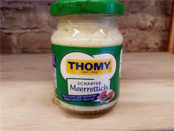 Salsa de rábanos con nata suiza Thomy
