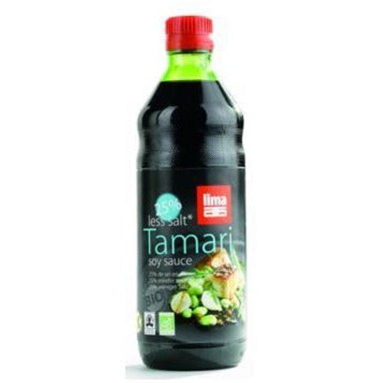 Salsa de Soja Tamari 25% Menos Sal Sin Gluten Bio 250ml