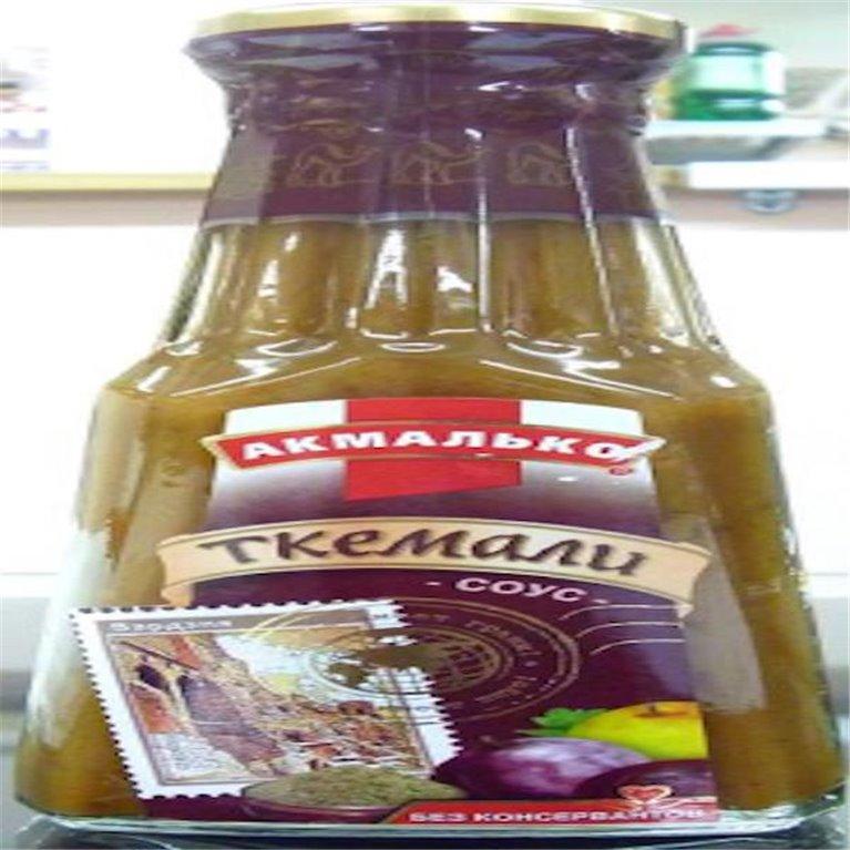 Salsa Tkemali de ciruelas verdes
