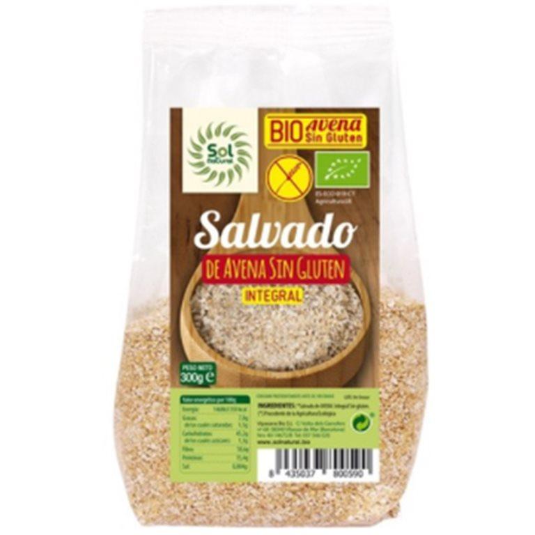 Salvado de Avena Integral Sin Gluten Bio 1,8kg (6 x 300g), 1 ud