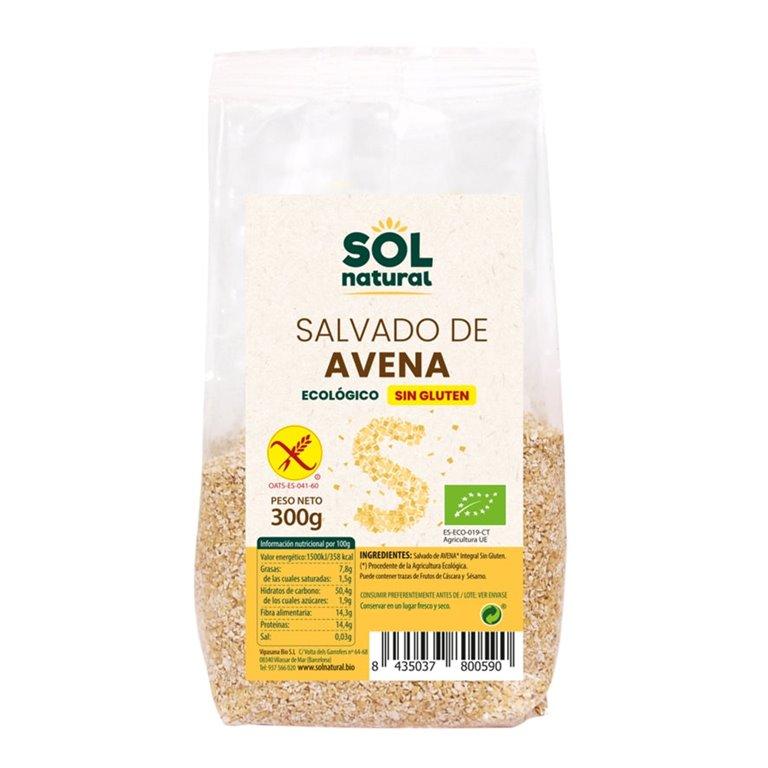 Salvado de Avena Integral Sin Gluten Bio 300g, 1 ud