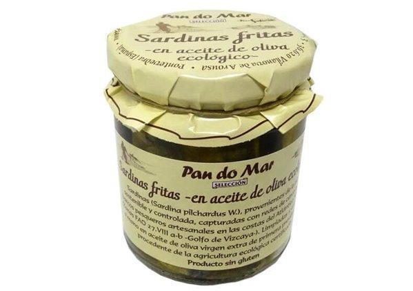 Sardinas fritas BIO en aceite de oliva - Pan do Mar