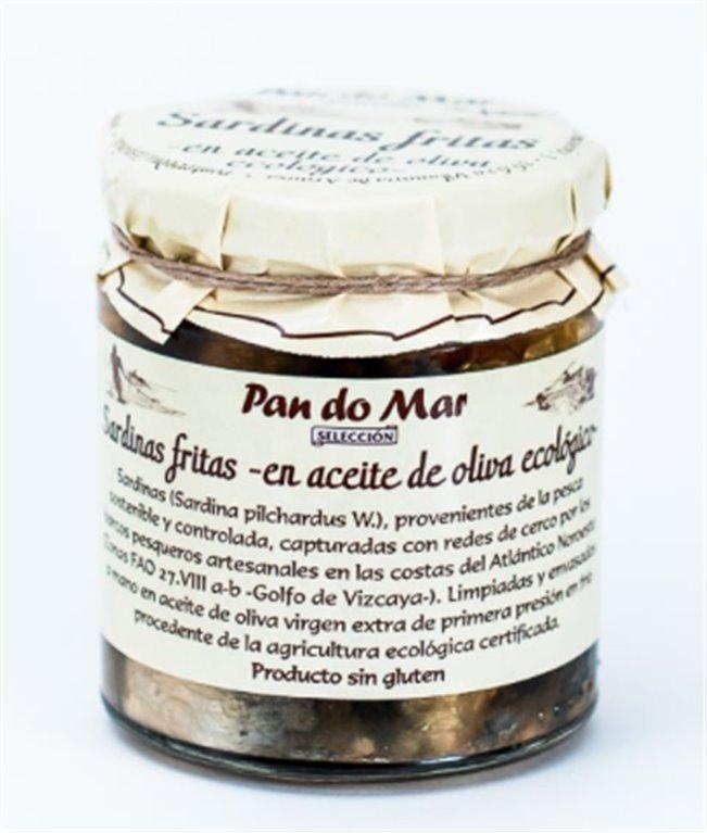 Sardinas fritas en aceite de oliva, 150 gr