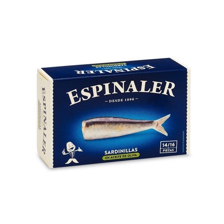 Sardinilla en Aceite de Oliva 14/16 Piezas Espinaler, 1 ud