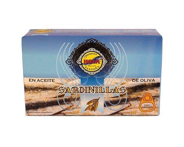Sardinilla en aceite de oliva Hoya, peso neto 85 gr.