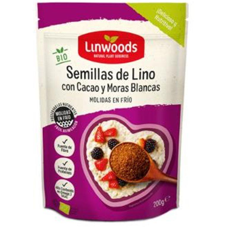 Semillas de Lino, Cacao y Frutas del Bosque (Molidas en Frío) Bio 360g, 1 ud