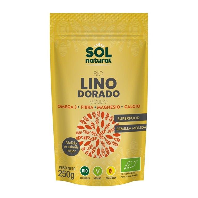 Semillas de Lino Dorado Molidas Bio 250g
