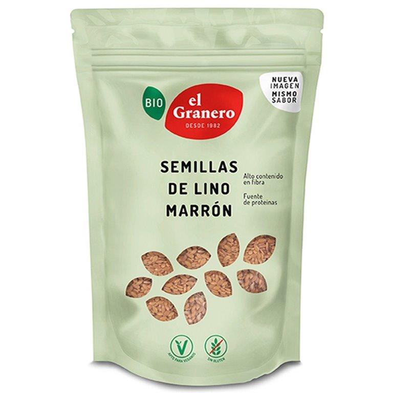 Semillas de Lino Marrón Bio 500g