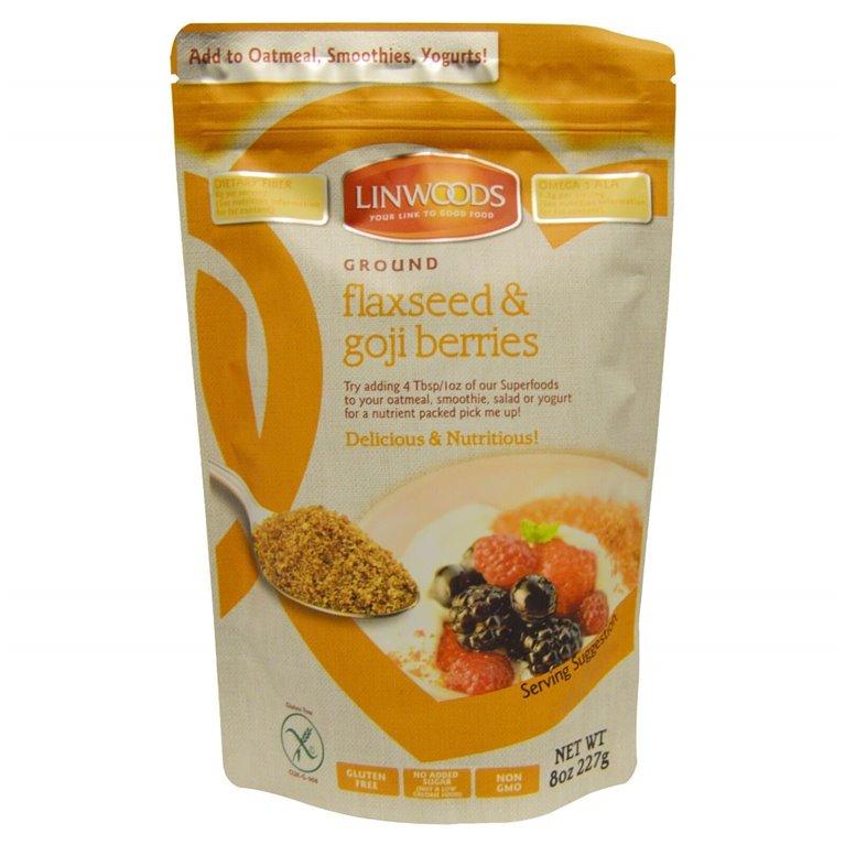 Semillas de lino y goji molidas, 200 gr