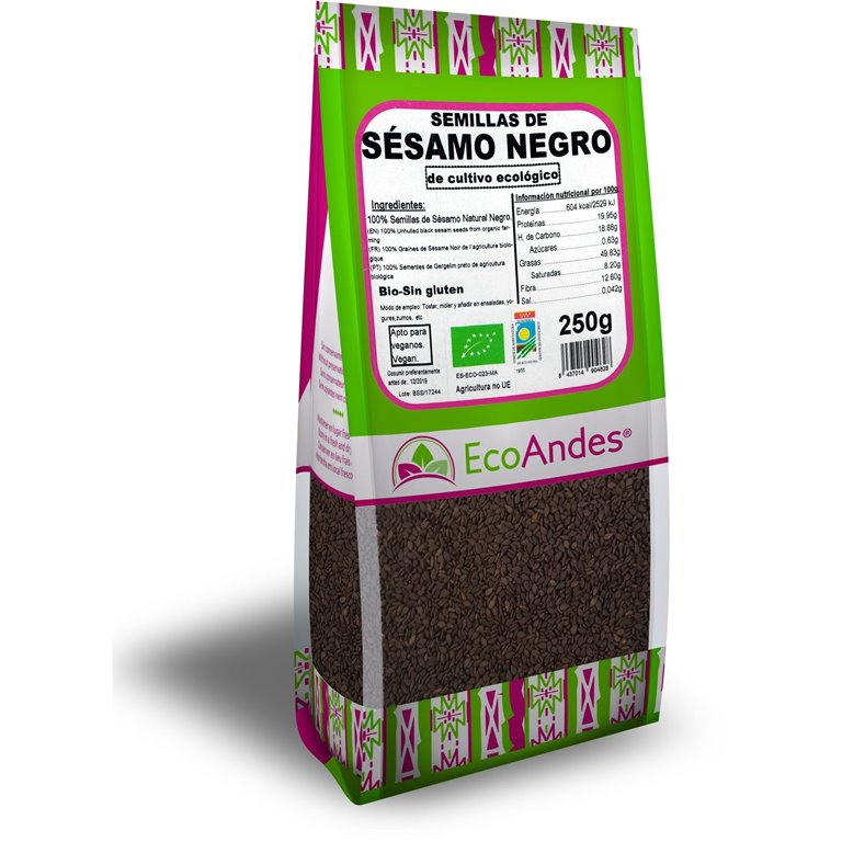 Semillas de Sésamo Negro Bio 250g, 1 ud