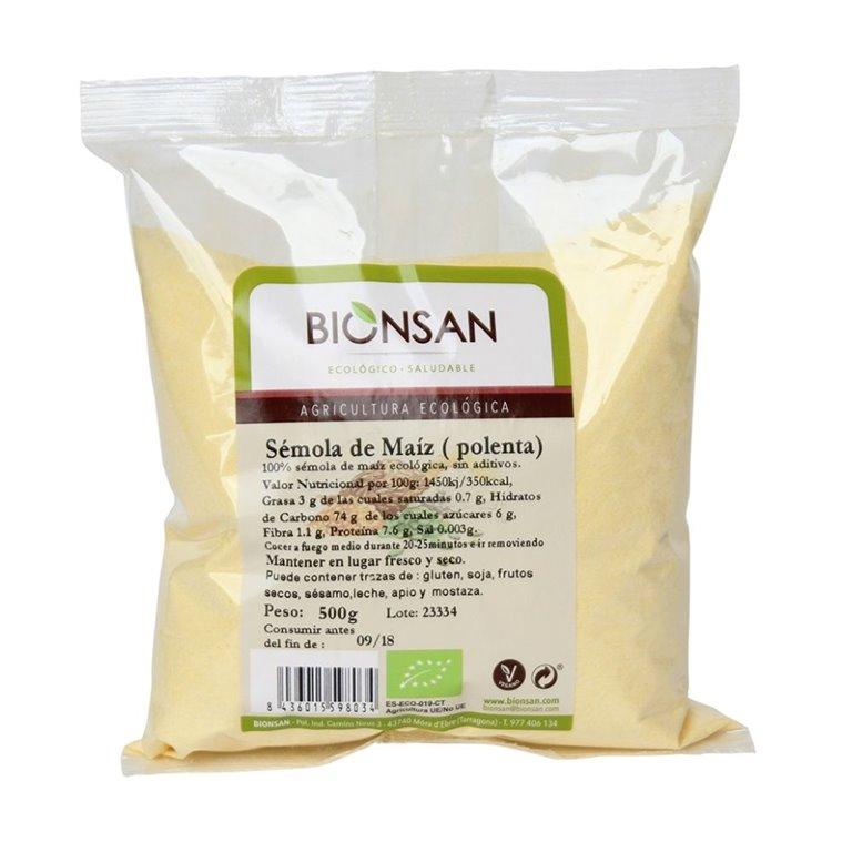 Sémola de maíz (polenta) ecológica -500gr