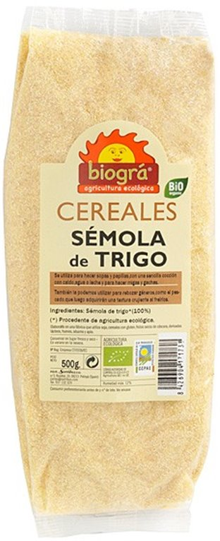 Sémola de Trigo Bio 500g, 1 ud