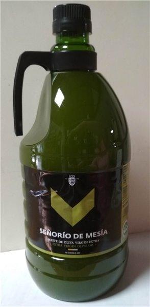 Señorío de Mesía. Aceite de oliva Picual SIN FILTRAR. 2 Litros.