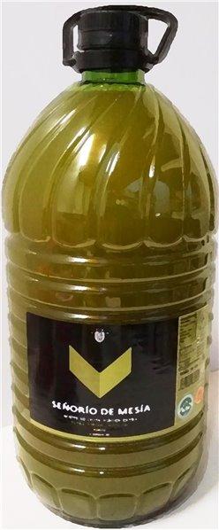 Señorío de Mesía. Aceite de oliva Picual SIN FILTRAR. 5 Litros.
