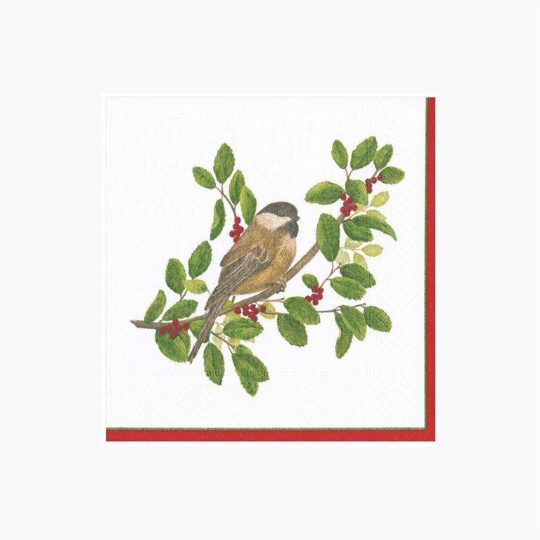 Servilletas Winter Songbirds, 20uds Caspari