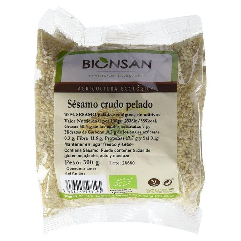 Organic raw peeled sesame -300gr