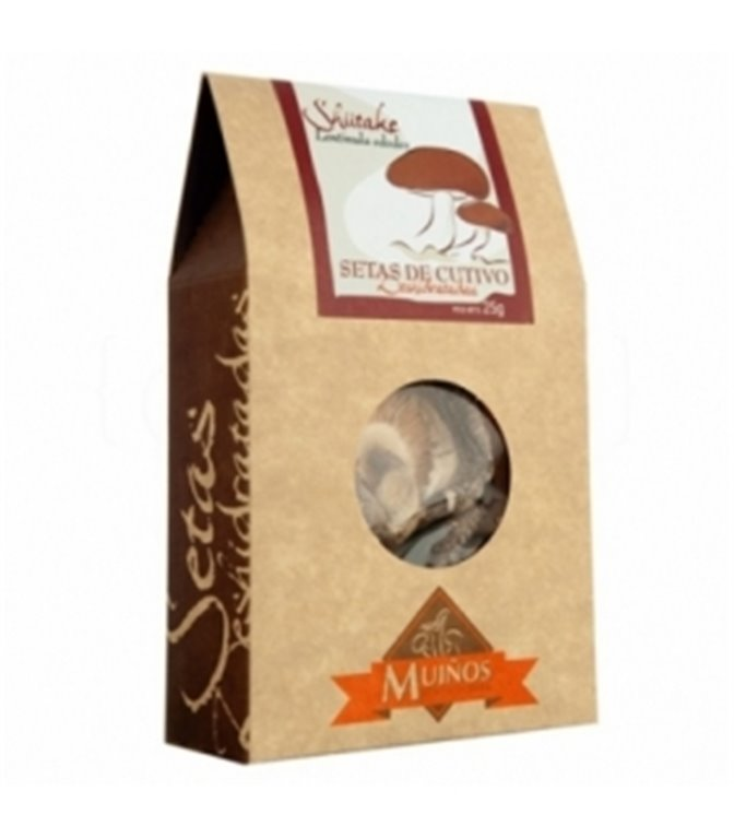 Shiitake deshidratado (Lentinula edodes) 25gr. Porto-Muiños. 4un.