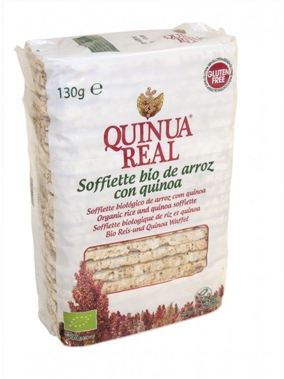 Soffiette de Arroz Integral con Quinoa Real Sin Gluten Bio 130g