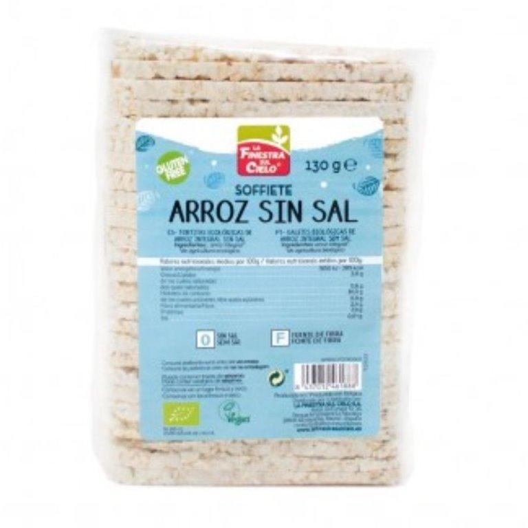 Soffiette de Arroz Integral (Sin Sal) Sin Gluten Bio 130g, 1 ud