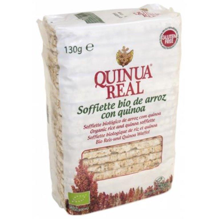 Soffiette de Arroz Integral y Quinoa Sin Gluten Bio 130g, 1 ud