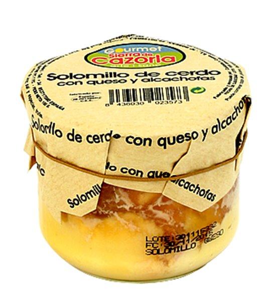 Solomillo de cerdo con alcachofas y queso. Caja de 9 x 240 gr.