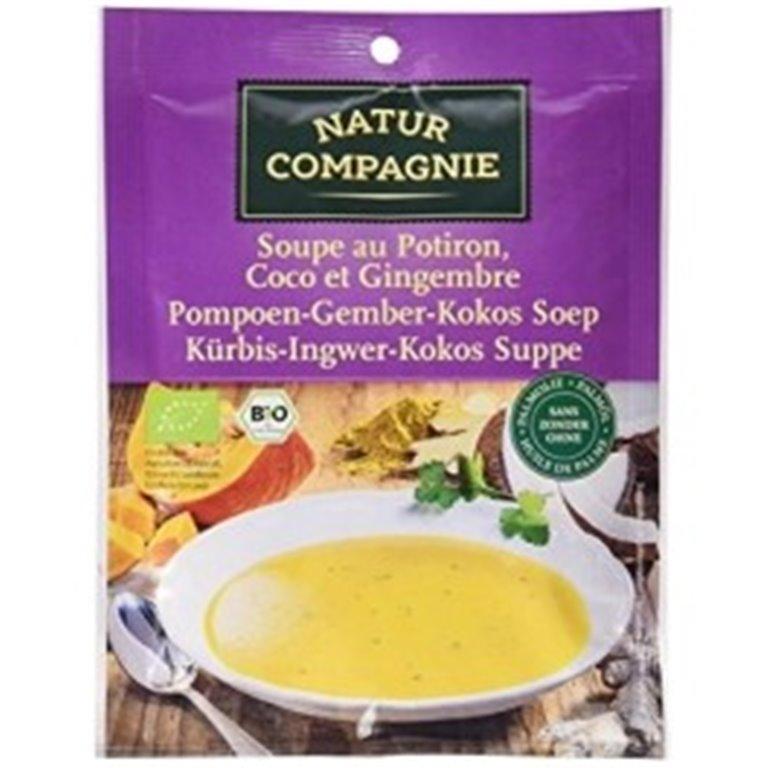 Sopa de calabaza coco y jengibre, 40 gr