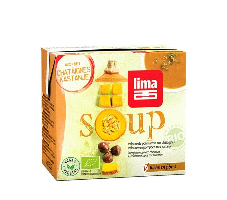 Sopa de calabaza con castañas