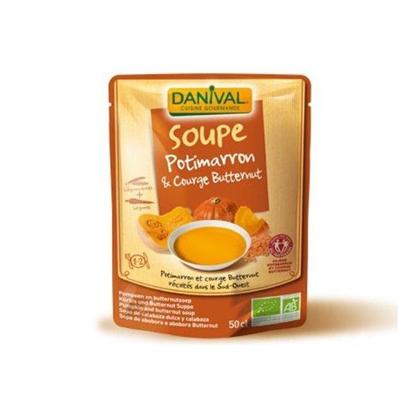 Sopa De Calabaza Y Lentejas
