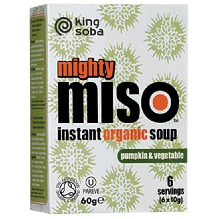 Sopa de miso con calabaza y verduras, 60 gr