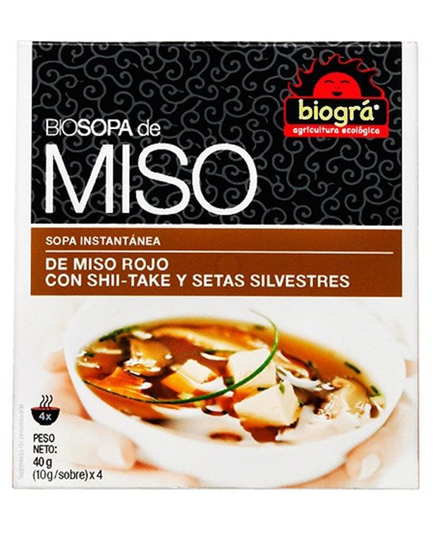 Sopa de Miso Rojo con Shii-Take y Setas Silvestres Bio 40g, 1 ud