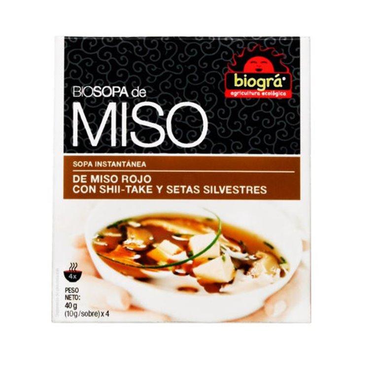 Sopa de miso rojos con setas bio 4 bolsas