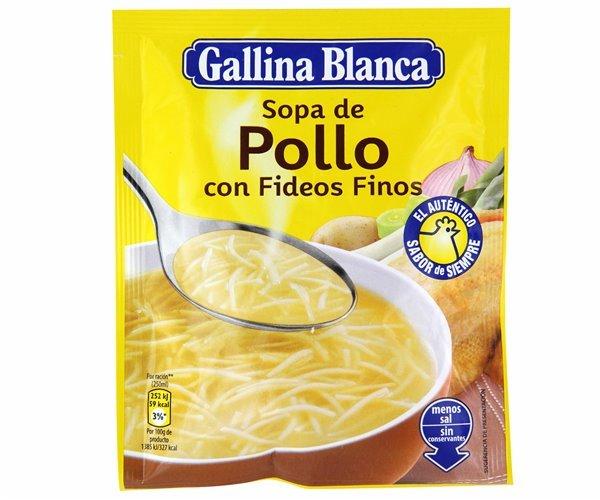 Sopa de pollo con fideos finos Gallina Blanca