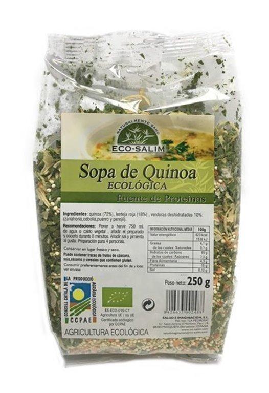 Sopa de quinoa, 250 gr