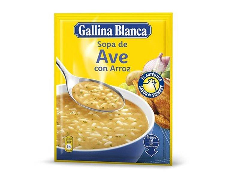 Sopa Gallina Blanca - Ave con arroz