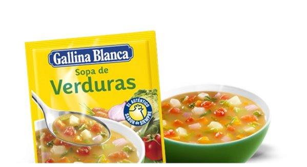 Sopa de verduras Gallina Blanca