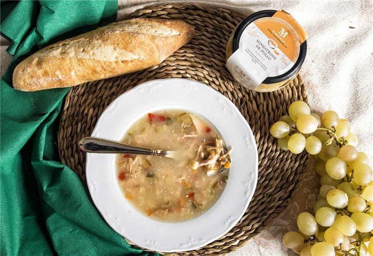 Sopa Minestrone de Pollo