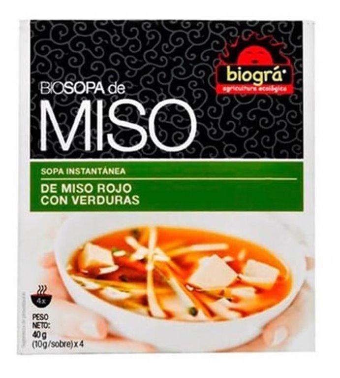 Sopa miso  con verduras, 40 gr