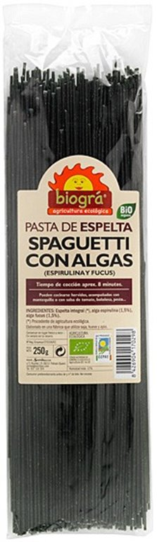 Spaghetti de Espelta con Algas Bio 250g