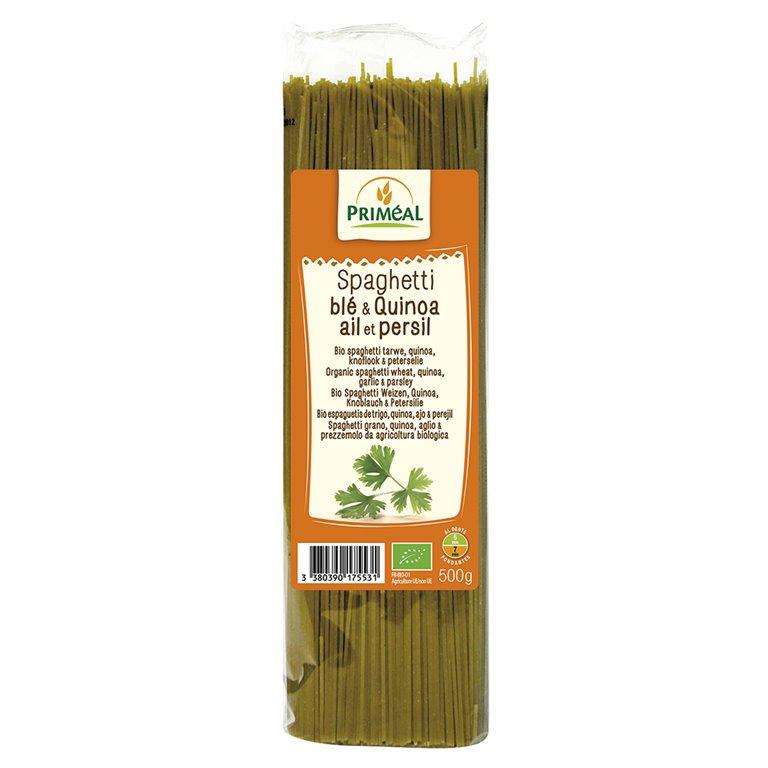 Spaghetti de Quinoa con Ajo y Perejil Bio 500g