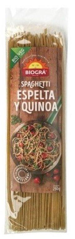 Spaghetti de Espelta Integral y Quinoa Bio 250g