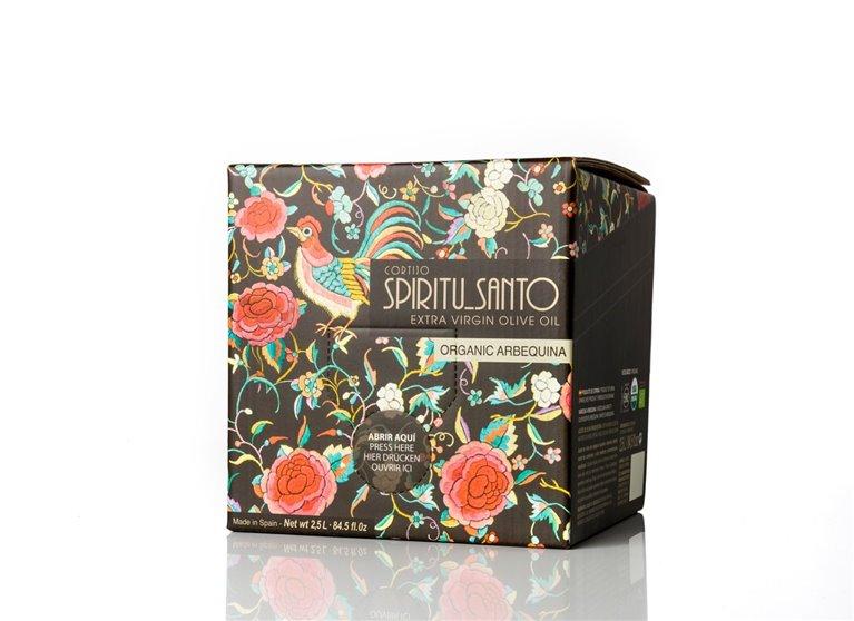 Spiritu Santo. AOVE Ecológico arbequina.Box in bag de 2,5L