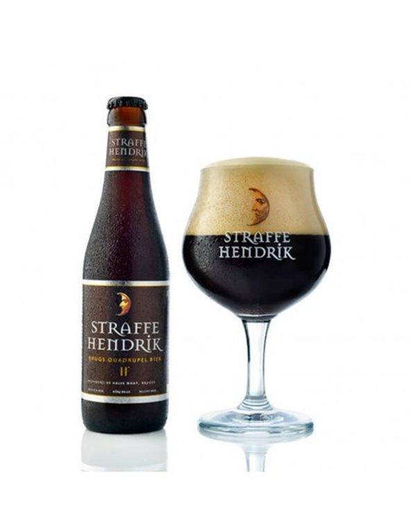 Straffe Hendrik. Brugs Quadrupel Bier. Belgian imported beer.