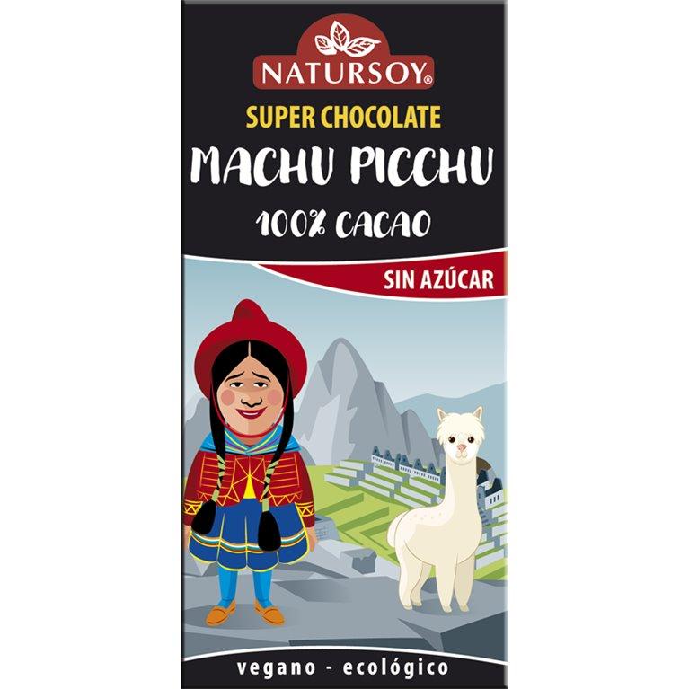 Super Chocolate Machu Pichu (Sin Azúcar) Bio 100g, 1 ud
